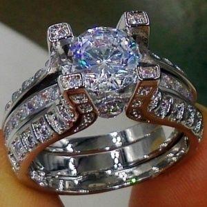 Jewelry - Stunning White Saphire Wedding Set